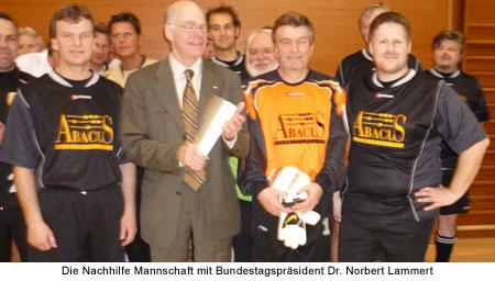 Die Nachhilfe Mannschaft mit Bundestagspräsident Dr. Norbert Lammert