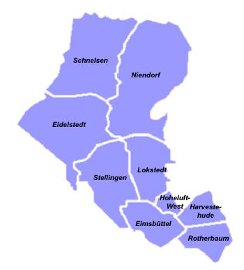 Karte für Ihre Nachhilfe Bezirk Hamburg Eimsbüttel