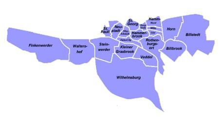 Karte für Ihre Nachhilfe Bezirk Hamburg Mitte